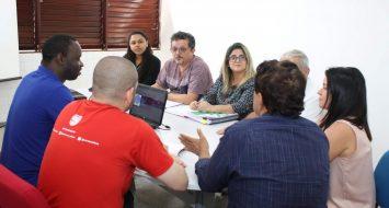 Coordenadores dos setores ligados à Administração da UEMASUL reunidos para discutir Plano de Ação para o ano 2020.
